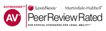 AV Distinguish, LexisNexis, Martindale-Hubbell, Peer Review Rated